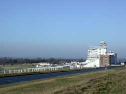 Racecourse grandstand Epsom Downs